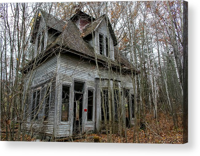 Abandoned Acrylic Print featuring the photograph Abandoned House In New Hampshire by Allan Johnson