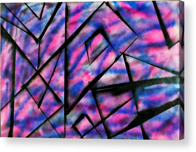 Blue Acrylic Print featuring the painting Abstract-03 by Frank Carter