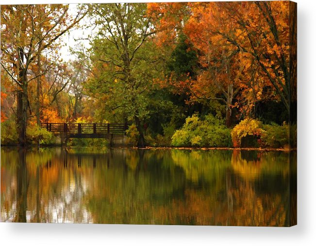 Lake Acrylic Print featuring the photograph Across The Lake by Lyle Hatch