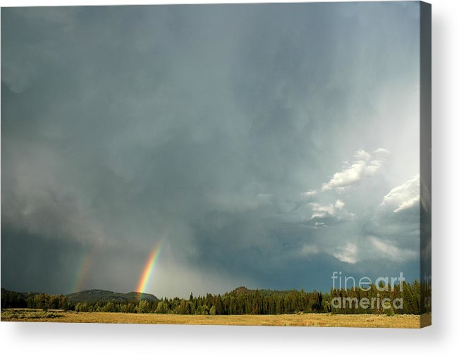 Tetons Acrylic Print featuring the photograph After The Storm by Alan Russo