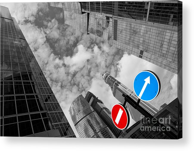 Skyscraper Acrylic Print featuring the photograph Aim High by Maurizio Bacciarini