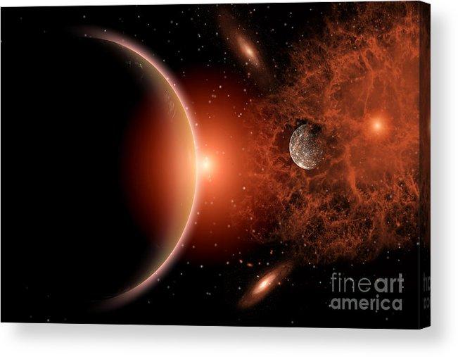 Horizontal Acrylic Print featuring the photograph Alien Sunrise On A Distant Alien World by Mark Stevenson