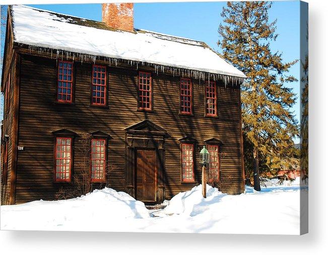 Deerfield Acrylic Print featuring the photograph Allen House Deerfield Ma by James Kirkikis