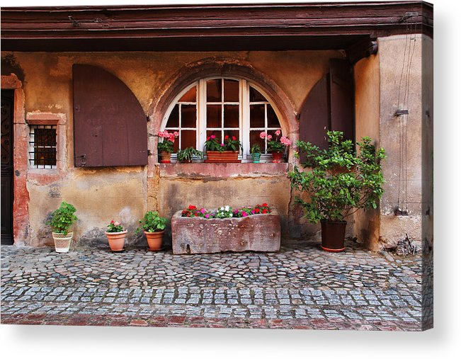 Alsace Acrylic Print featuring the photograph Alsatian Home In Kaysersberg France by Greg Matchick