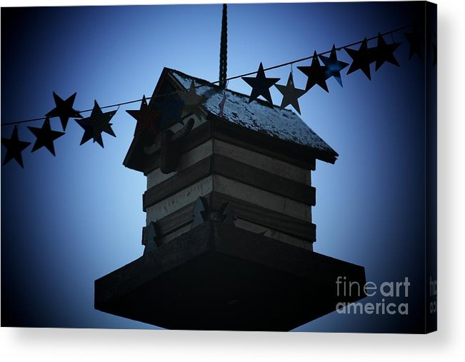 Stars And Stripes Acrylic Print featuring the photograph American Bird House by Brandi Maher