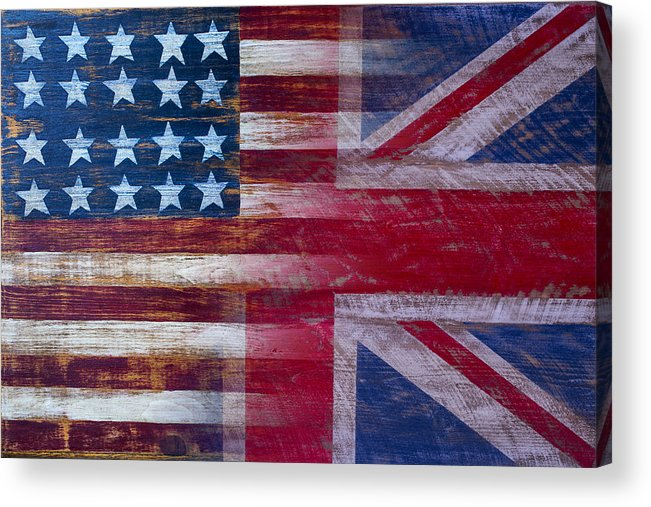 American Acrylic Print featuring the photograph American British Flag 2 by Garry Gay