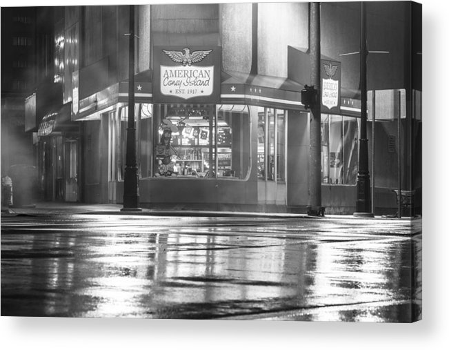 Detroit Acrylic Print featuring the photograph American Coney Detroit by John McGraw