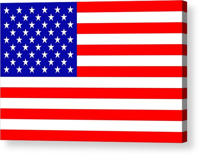 America Acrylic Print featuring the mixed media American Flag by Tommytechno Sweden
