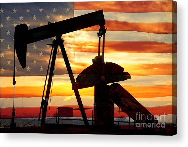 Oil Acrylic Print featuring the photograph American Oil by James BO Insogna