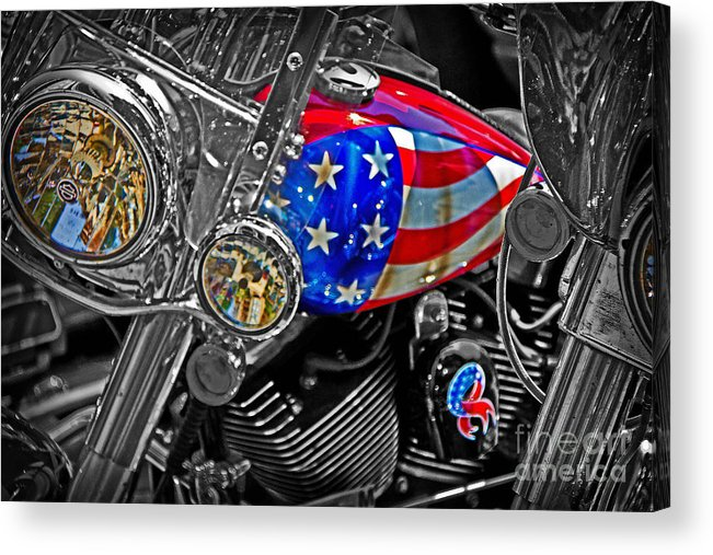 Patriotic Acrylic Print featuring the photograph American Ride by Tom Gari Gallery-Three-Photography