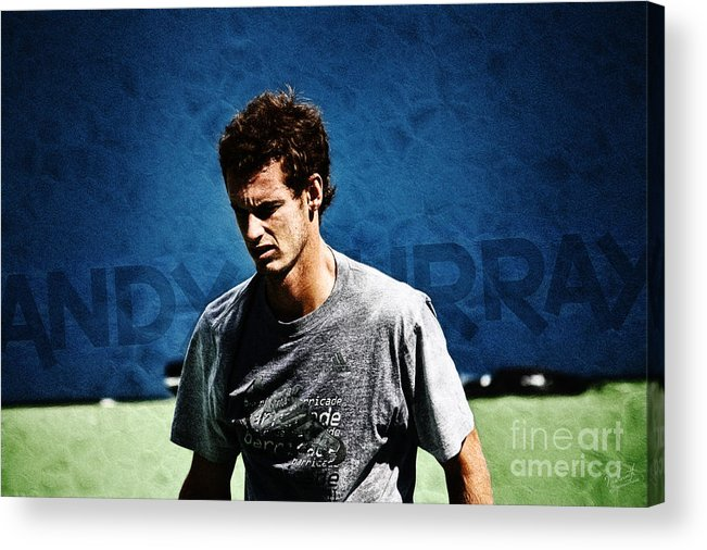Andy Murray Acrylic Print featuring the photograph Andy Murray by Nishanth Gopinathan