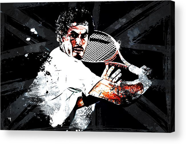 Andy Murray Acrylic Print featuring the digital art Andy Murray by The DigArtisT
