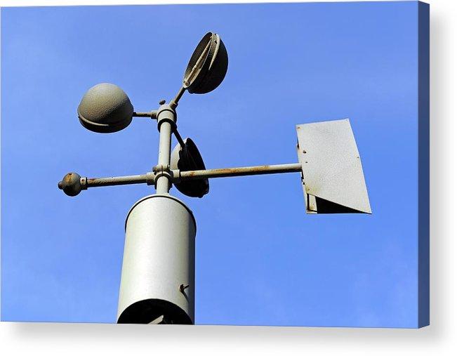 Anemometer And Wind Vane Acrylic Print By Bildagentur Mcphoto