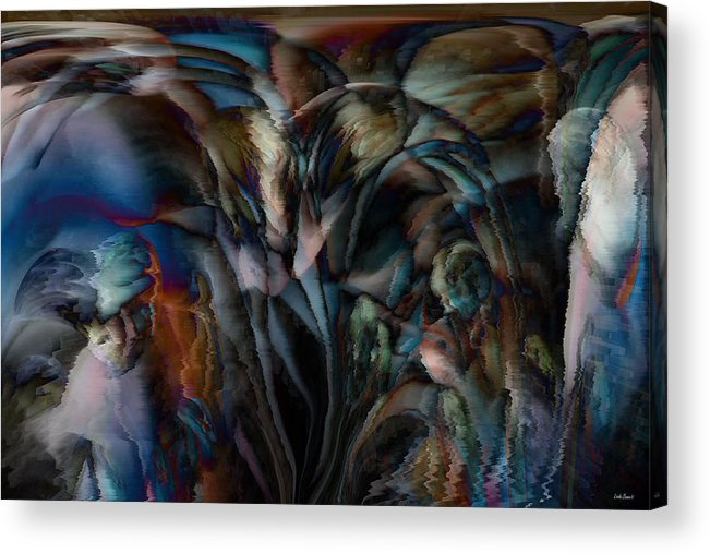 Another World Art Acrylic Print featuring the digital art Another World by Linda Sannuti
