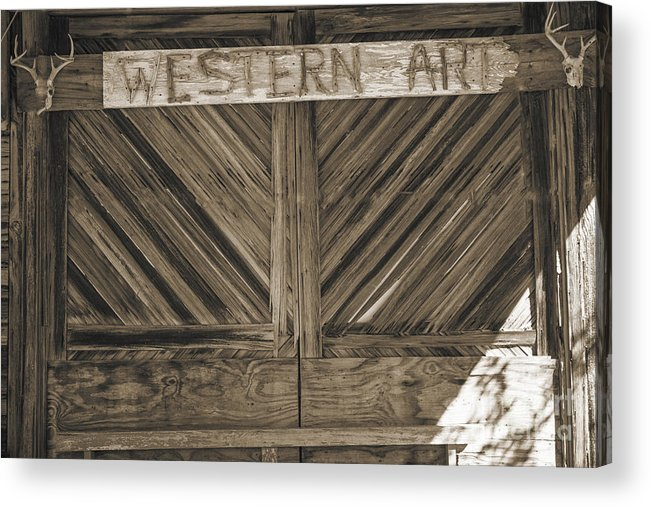 Barn Doors Acrylic Print featuring the photograph Antique Barn Doors In Sepia Black And White 3003.01 by M K Miller