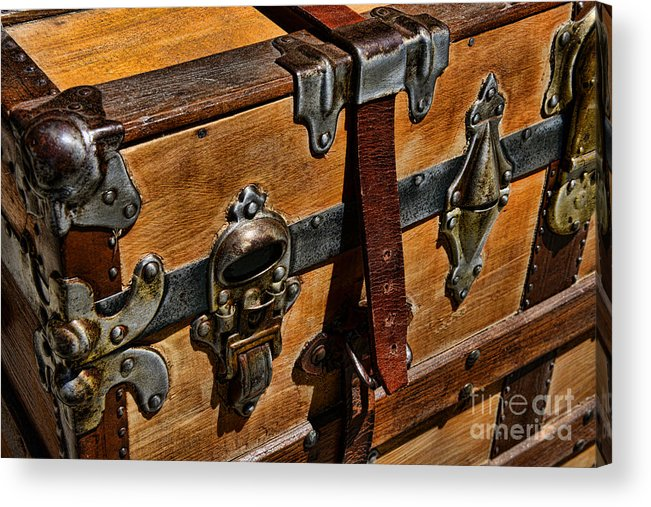 Paul Ward Acrylic Print featuring the photograph Antique Steamer Truck Detail by Paul Ward