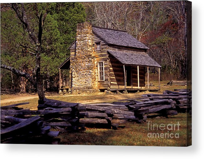 Log Cabin Acrylic Print featuring the photograph Appalachian Homestead by Paul W Faust - Impressions of Light