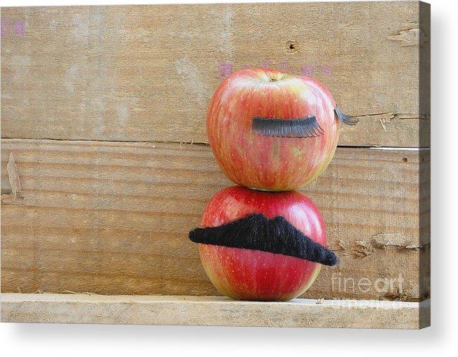 Apple Acrylic Print featuring the photograph Apple Over Apple by Eva Ozkoidi