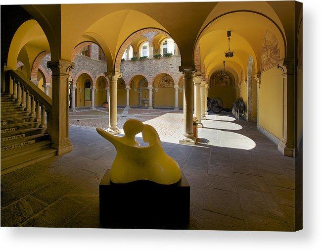 Bellinzona Acrylic Print featuring the photograph Arcade In Bellinzona by Radka Linkova