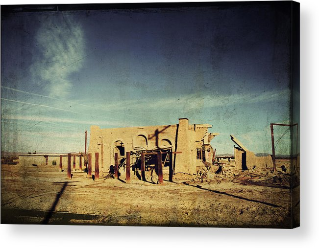 Dilapidated Acrylic Print featuring the photograph Ashes To Ashes by Laurie Search