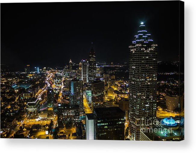 Atlanta Acrylic Print featuring the photograph Atlanta City Lights by Sophie Doell