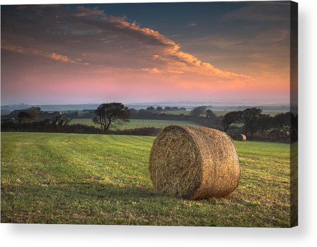 Landscape Acrylic Print featuring the photograph Autumn In Cornwall by Christine Smart