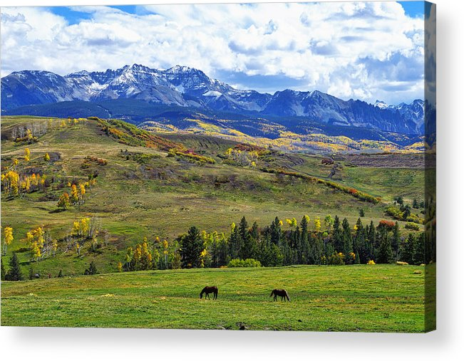 Colorado Photographs Acrylic Print featuring the photograph Autumn Pastural Setting by Gary Benson