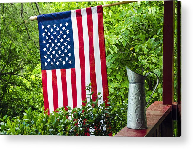 American Acrylic Print featuring the photograph Back Porch Americana by Carolyn Marshall