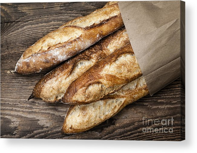 Bread Acrylic Print featuring the photograph Baguettes Bread by Elena Elisseeva