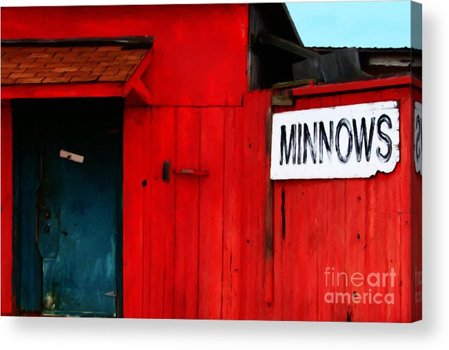 Americana Acrylic Print featuring the photograph Bait Shop 20130309-2 by Wingsdomain Art and Photography