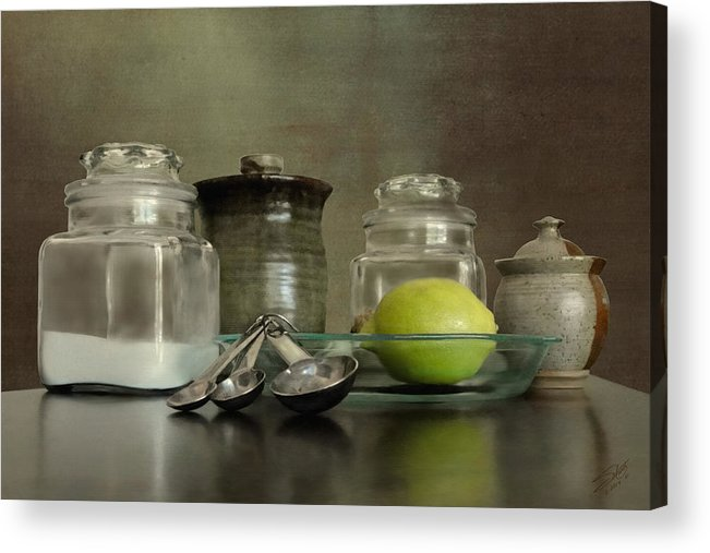 Baking Acrylic Print featuring the painting Baker's Kitchen by IM Spadecaller