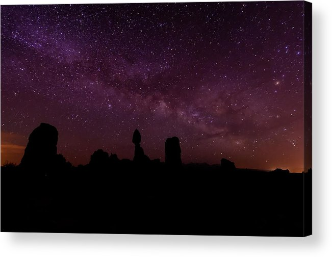 Arches National Park Acrylic Print featuring the photograph Balancing The Universe by Silvio Ligutti