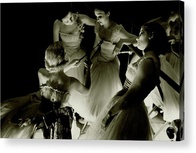 Beauty Acrylic Print featuring the photograph Ballerinas In Radio City Music Hall by Remie Lohse