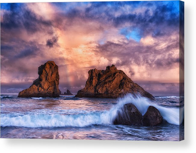Storm Acrylic Print featuring the photograph Bandon Beauty by Darren White