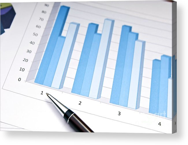 Accounting Acrylic Print featuring the photograph Bar Chart by Tim Hester