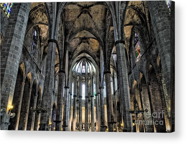Acrylic Print featuring the photograph Barcelona Cathedral by Allen Hall