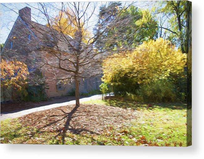 Bartrams Garden John Bartram House Acrylic Print featuring the photograph Bartram Shadow by Alice Gipson