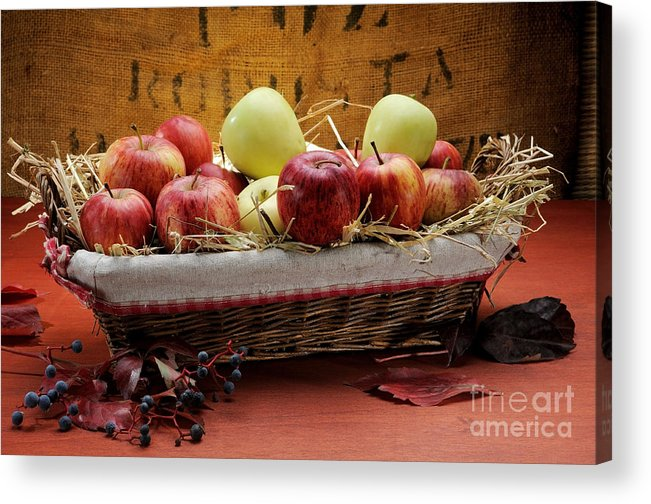 Antioxidant Acrylic Print featuring the photograph Basket Of Apples by Bruno D'Andrea