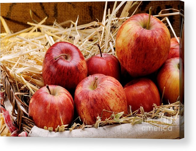 Antioxidant Acrylic Print featuring the photograph Basket Of Delicious Red Apples by Bruno D'Andrea