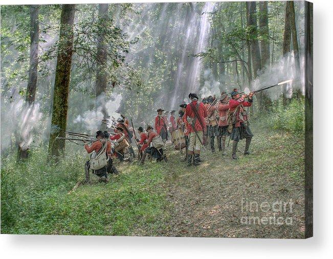 Reenactor Acrylic Print featuring the digital art Battle Of Bushy Run 2010 by Randy Steele