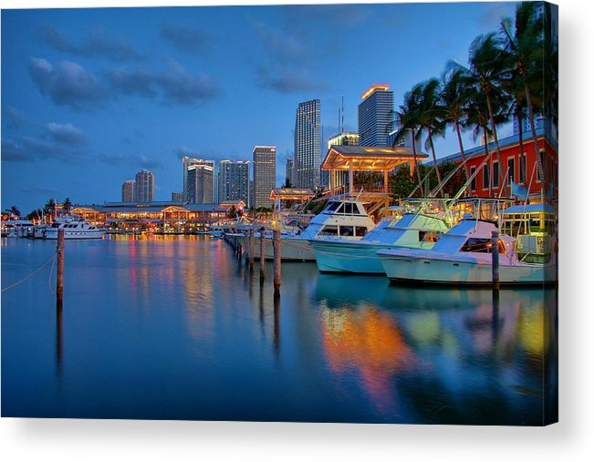 United States Acrylic Print featuring the photograph Bayside Marketplace by Claudia Domenig