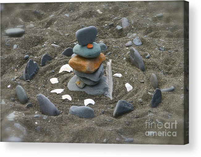 Rock Acrylic Print featuring the photograph Beach Art by Rick Monyahan