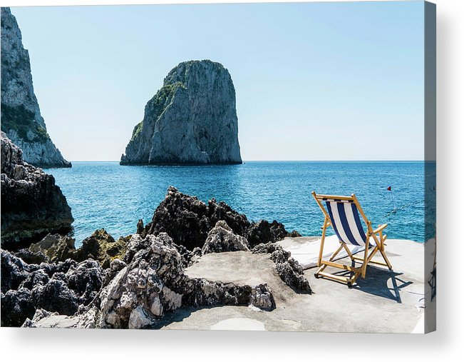 Scenics Acrylic Print featuring the photograph Beach Club La Fontanella, Capri by Arnt Haug / Look-foto