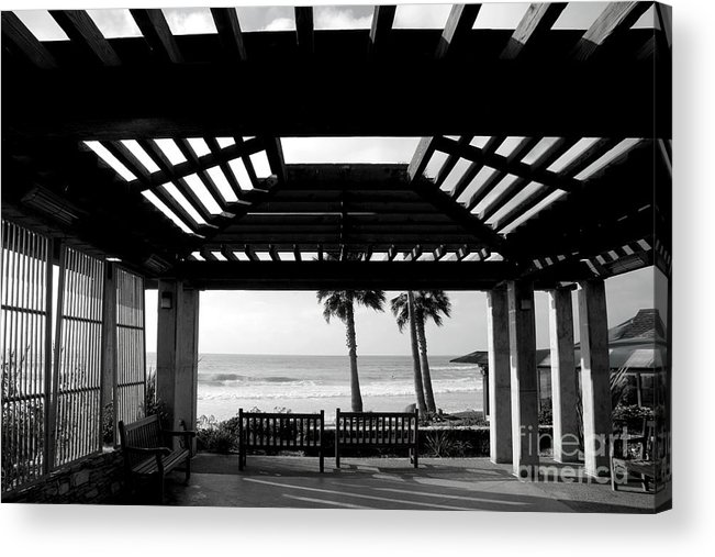 Architecture Acrylic Print featuring the photograph Beach In Del Mar California by Julia Hiebaum