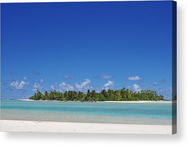 Beach Acrylic Print featuring the photograph Beach Island In Aitutaki by Jc Imagery