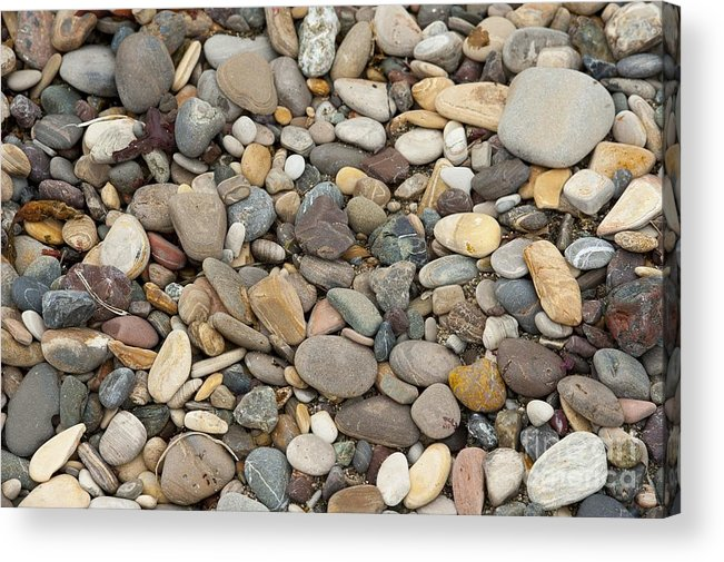 Ocean Acrylic Print featuring the photograph Beach Rocks by Artist and Photographer Laura Wrede
