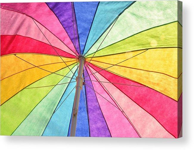 Umbrella Acrylic Print featuring the photograph Beach Umbrella 2 by Allen Beatty