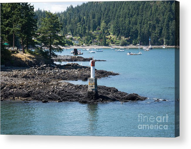 Bowen Island Acrylic Print featuring the digital art Beacon At Snug Cove by Carol Ailles