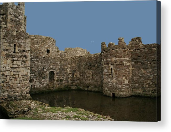 Castles Acrylic Print featuring the photograph Beamaris Castle by Christopher Rowlands