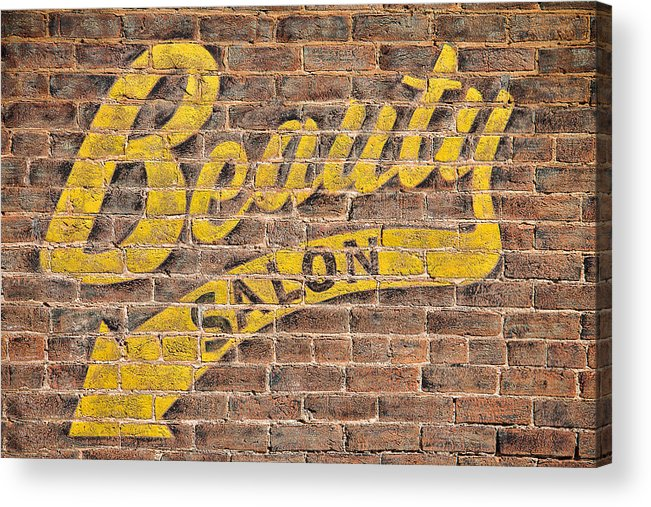 Steven Bateson Acrylic Print Featuring The Photograph Beauty Salon Sign Vintage By